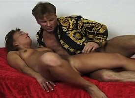 Claudi gets nailed hard by Jurgis with an increment of receives his juices in her mouth