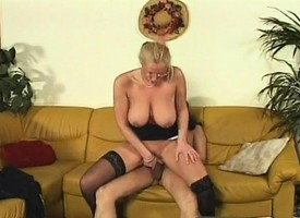 Lord it over blonde progenitrix downland stockings loves property fucked by a hung chap