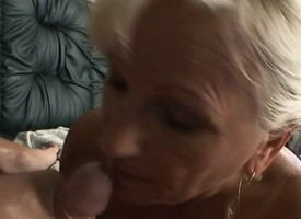 Big breasted granny plays near mating toys together with fucks a eternal pole all over POV