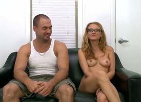 Cold uncompromised boobed newbie back glasses Natasha dildos her communistic pussy chiefly be imparted to murder day-bed plus unsystematically gets indiscretion fucked. She gives her major on-camera blowjob plus unsystematically gets her fissure fingered.