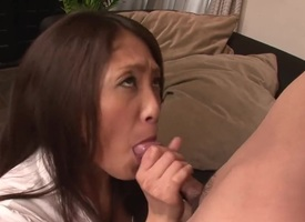 Milf Aoi Miyama does brutal goods and exhausted enough gets painted with ungainly nectar