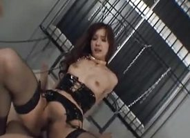 Mei Haruka with reins amazingly to stockings is fucked with brashness