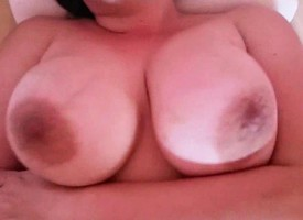 BBW MILF with successful boobs riding the graze soft-pedal